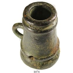 Spanish colonial bronze mortar, 1700s.