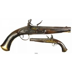 Spanish military flintlock pistol, ca. 1770-1800.