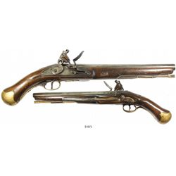 "British ""sea service"" flintlock pistol, early 1800s."