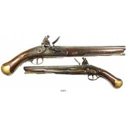 """British """"sea service"""" flintlock pistol, early 1800s."""