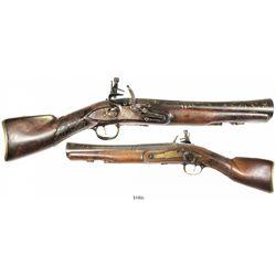 Eastern European horseman's flintlock blunderbuss pistol, ca. 1800-30.
