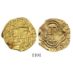 Bogota, Colombia, cob 2 escudos, Philip IV, assayer not visible (style of assayer A to right, ca. 16