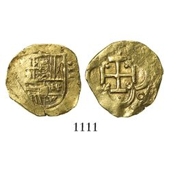 Seville, Spain, cob 2 escudos, Philip III (?), assayer not visible.