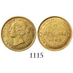 Newfoundland, Canada, 2 dollars, 1882-H.