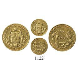 Costa Rica, 1 peso, 1872GW.