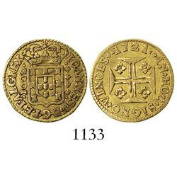 Lisbon, Portugal, 1000 reis, Joao V, 1721.