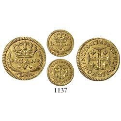 Lisbon, Portugal, 400 reis, Joao V, 1729.