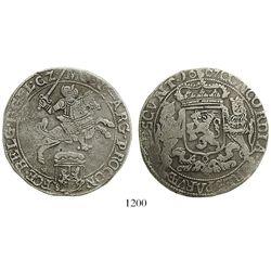 "Gelders, United Netherlands, ""rider"" ducatoon, 1667."