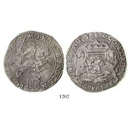 "Gelders, United Netherlands, ""rider"" ducatoon, 1670."