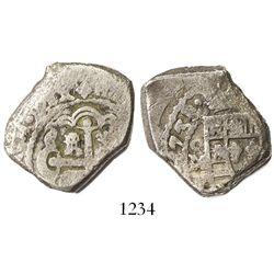Mexico City, Mexico, cob 4 reales, 1733/2(F), rare.