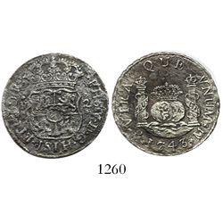 Mexico City, Mexico, pillar 2 reales, Philip V, 1743M.