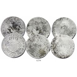 Lot of 3 French ecus of Louis XV, various dates and mints (1727-B, 1727-T and 1728-C).