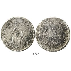 Philippines (under Spain), 8 reales, Ferdinand VII, crowned F.7.o countermark on Lima, Peru, 8 reale