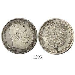 Prussia, German States, 2 mark, 1876-A, rare provenance.