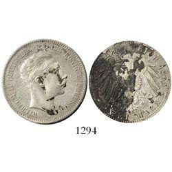Prussia, German States, 2 mark, 1899-A, rare provenance.