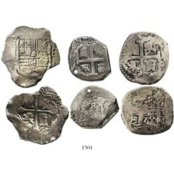 Lot of 3 cob 8 reales from different wrecks: Mexico City, Mexico, Philip IV, Concepcion (1641); Lima