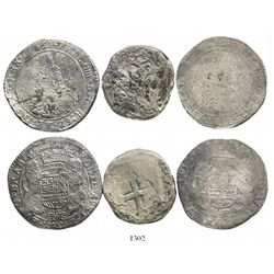 Lot of 3 crown-size coins from Dutch shipwrecks: 1656 portrait ducatoon from the Merestein (1702); M
