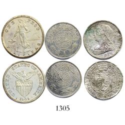 "Lot of 3 silver coins from 1900s wrecks/salvages: Elingamite (1902), ""Manila Bay"" (1942) and SS John"