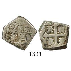 Mexico City, Mexico, cob 2 reales, 1730F.