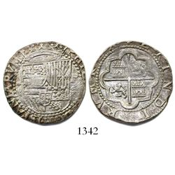 Lima, Peru, cob 2 reales, Philip II, assayer Diego de la Torre, *-ii to left, P-oD to right.
