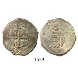 Lima, Peru, cob 2 reales, 1692(V).