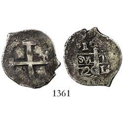 Lima, Peru, cob 1 real, 1720(M), ex-Sellschopp.