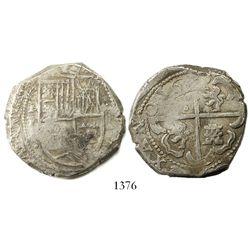 Potosi, Bolivia, cob 8 reales, 1630T.