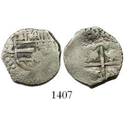 Potosi, Bolivia, cob 1 real, Philip IV, assayer Z, rare.