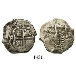 Potosi, Bolivia, cob 2 reales, 1680V.