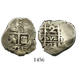 Potosi, Bolivia, cob 2 reales, 1713(Y).