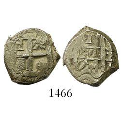 Potosi, Bolivia, cob 1 real, 1754C+q, rare.