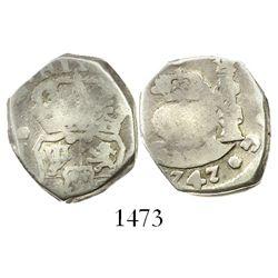 Guatemala, cob 2 reales, (1)747J.