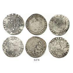 Lot of 3 Burgos, Spain, 1R, Ferdinand-Isabel.