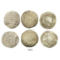 Lot of 3 Seville, Spain, 1R, Ferdinand-Isabel.
