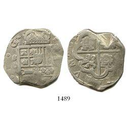 Seville, Spain, cob 8 reales, Philip IV, assayer D.