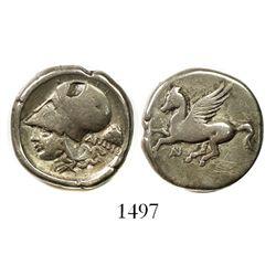"Akarnania, Anaktorion, AR stater, ca. 320-280 BC, ""pegasus."""