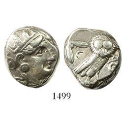 "Attica, Athens, AR tetradrachm ""owl,"" eastern imitation, ca. 350-294 BC."
