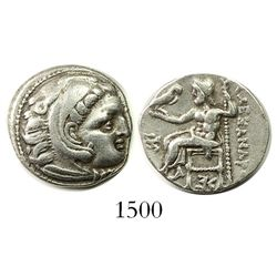 Kings of Macedon, AR drachm, Alexander III (the Great), 336-323 BC, Colophon mint, struck circa 319-
