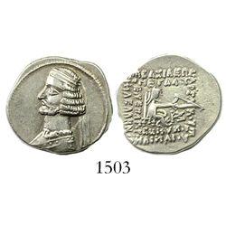 Kingdom of Parthia, AR drachm, Mithridates III (57-54 BCE).