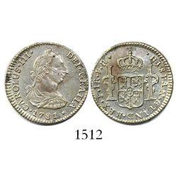 Potosi, Bolivia, bust 1 real, Charles III, 1781PR.
