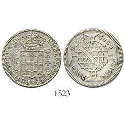 Brazil (struck in Lisbon), 160 reis, Maria I, 1787.
