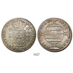 Brazil (Bahia mint), 960 reis, Joao Prince Regent, 1812-B.