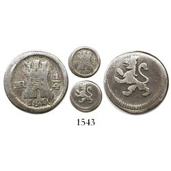 Bogota, Colombia, 1/4 real, 1810/09.