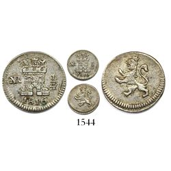 Bogota, Colombia, 1/4 real, 1816.