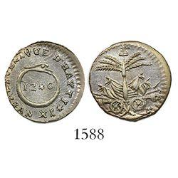 Haiti (Western Republic), 12 centimes, AN XI (1814).