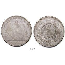 Honduras, 1 peso, 1881.
