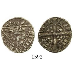 Ireland (under England), AR penny, Edward I (1272-1307), second coinage (1279-1302), Type Ib (1280-1