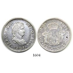 Mexico City, Mexico, bust 2 reales, Ferdinand VII, 1821JJ.