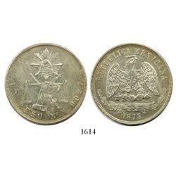 Mexico City, Mexico, 1 peso, 1873M.