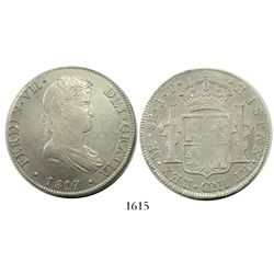 Lima, Peru, bust 8 reales, Ferdinand VII, 1817JP, narrow date.